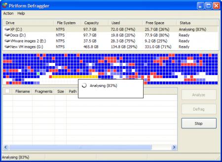 Defraggler 1.04.098 - небольшой и бесплатный дефрагментатор для ОС Windows