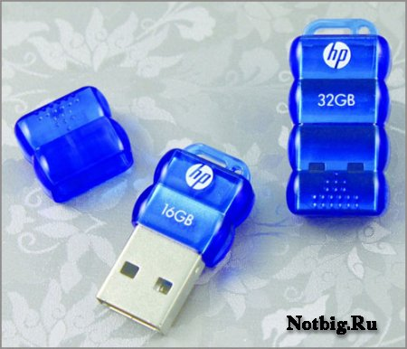 HP v112b – флешка-кроха объёмом до 32 Гбайт от PNY